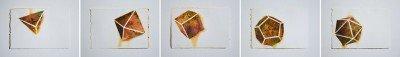 "5""x7"" platonic drawings_Gunpowder, pigment on paper"