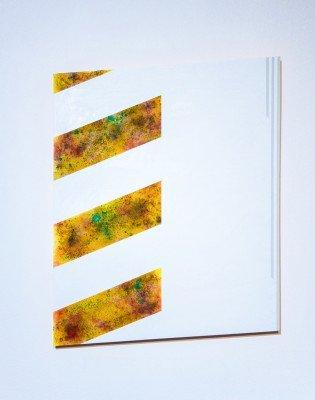 "Authority IV _ gunpowder, pigment, acrylic on panel_28""x21"""