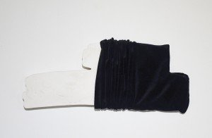 Redaction/Reduction: Projects of Intimacy_ velvet, plaster_ 27x12x3