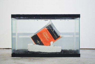 Concrete Action_ book, plaster, aquarium