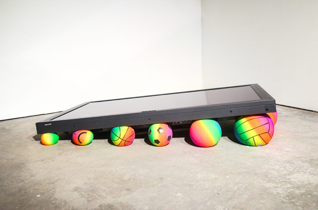 Art Ryder Richards Work/Play: Pyramid _ Pioneer television, balls